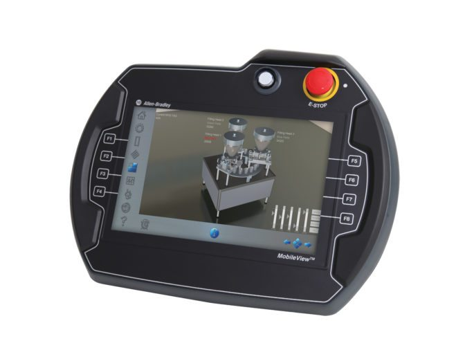 Mobile, Movable, HMI with E-Stop