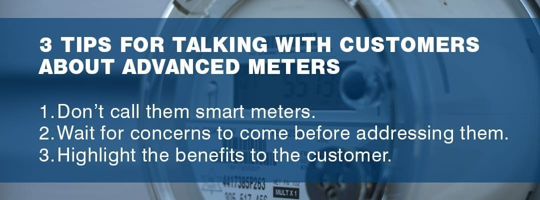 three tips for talking with customers about advanced meters