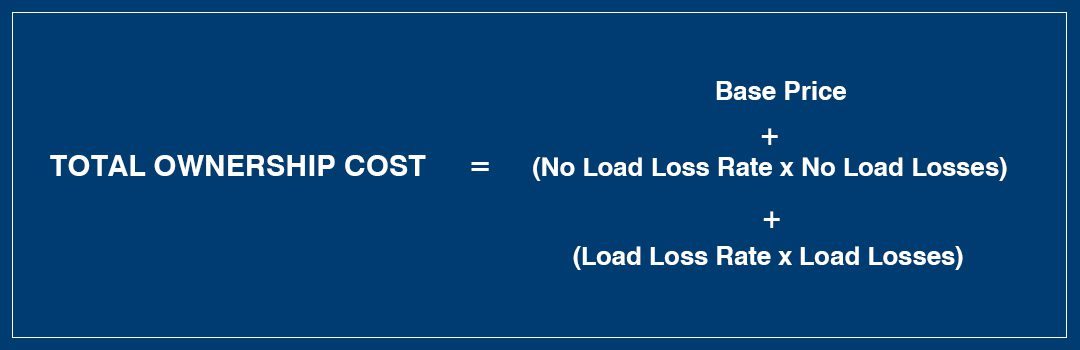 Total Ownership Cost = Base Price + (No Load Loss RatexNo Load Losses) + (Load Loss RatexLoad Losses)