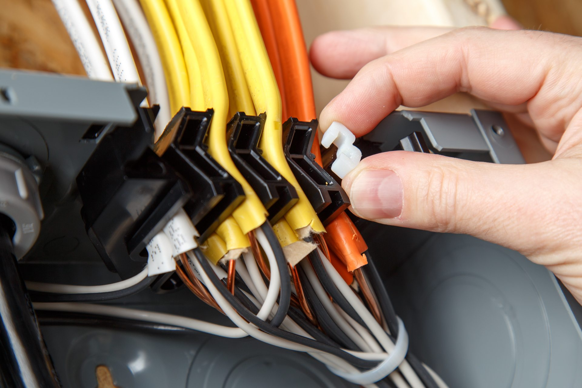 Qwik-Grip™ speeds up wire installation, simplifies rough-in