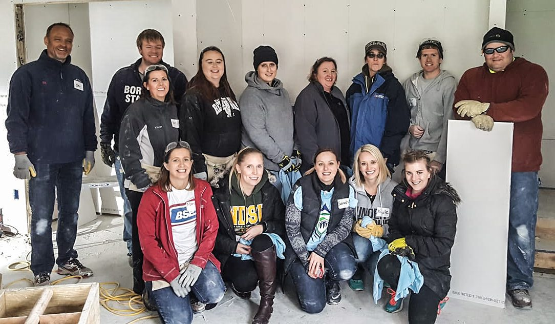 Habitat for Humanity Fargo adds 'Hero Build' drywall with Border States