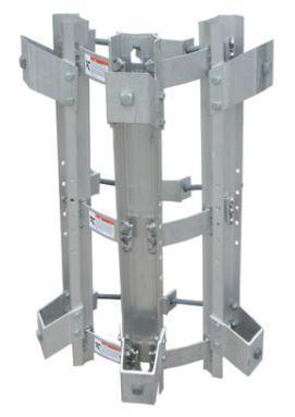 Utility pole aluminum brackets