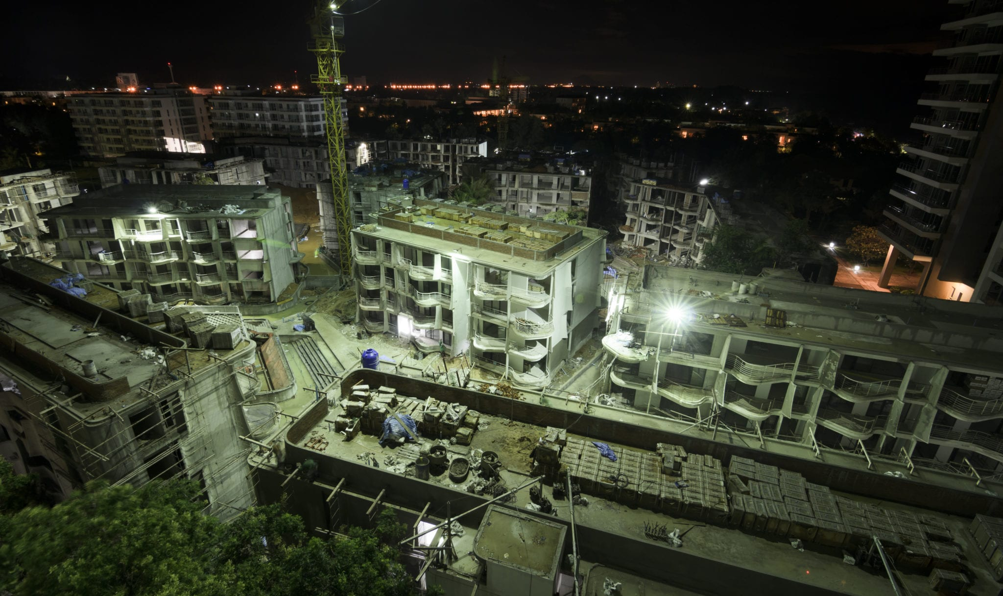 construction night work plan