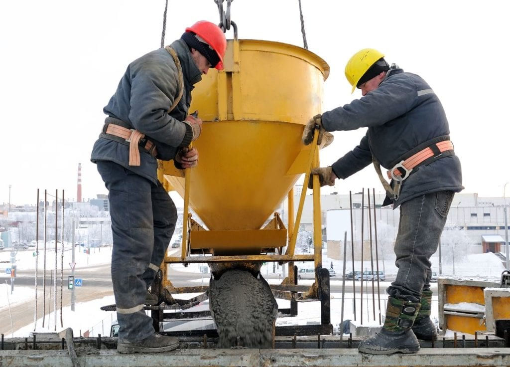 pouring concrete foundations in cold weather